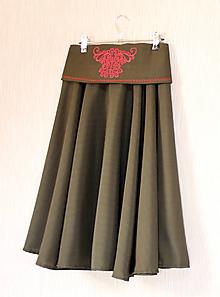Sukne - Kruhová sukňa s opaskom - 10565546_