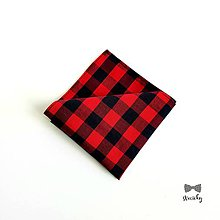 Doplnky - Pánska vreckovka do saka - Flannel Style - 10563649_
