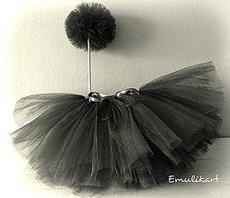 Detské oblečenie - Čierna elegantná tutu sukňa - 10564012_