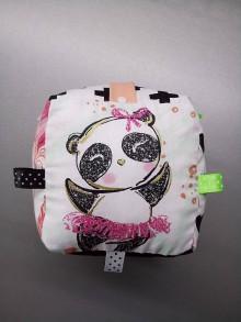 Hračky - Montessori hracia kocka panda so zlatým - 10566094_
