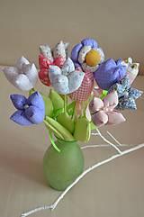Dekorácie - Kvet tulipán - mix (Fialová) - 10566467_