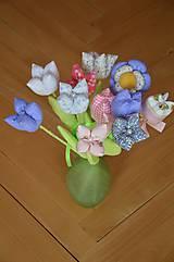 Dekorácie - Kvet tulipán - mix (Fialová) - 10566468_