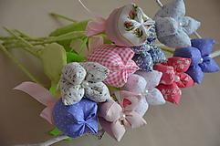 Dekorácie - Kvet tulipán - mix (Fialová) - 10566471_