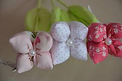 Dekorácie - Kvet tulipán - mix (Fialová) - 10566474_