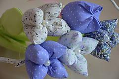 Dekorácie - Kvet tulipán - mix (Fialová) - 10566479_