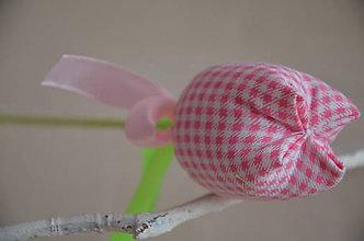 Dekorácie - Kvet tulipán - mix (Ružová, kocka) - 10566458_