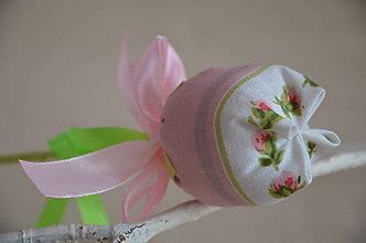 Dekorácie - Kvet tulipán - mix (Ružová, pásik) - 10566460_