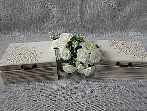 Darčeky pre svadobčanov - Svatební romantická krabička - 10563414_