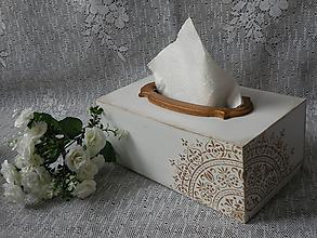 Krabičky - Krabička na kapesníky velká s mandalou - 10564374_