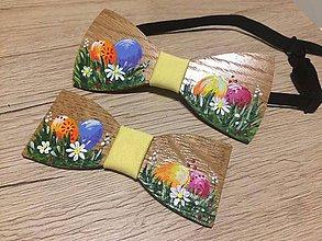 Doplnky - Veľkonočné drevené motýliky pre Ocka a syna - 10566337_
