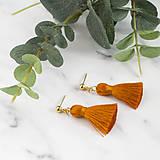 Náušnice - Malé oranžové náušnice - 10566429_