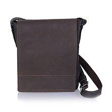Na tablet - Pánska kožená taška na rameno No.294 - 10565153_
