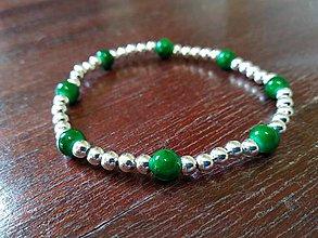 Náramky - Zeleno-strieborný - 10565396_