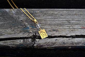 Náhrdelníky - Prvé sv. prijímanie retiazka s príveskom pozlátené striebro - 10564739_