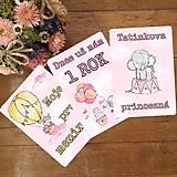 Detské doplnky - Milnikove kartičky slonik 30 ks (A5) ruzove - 10564333_
