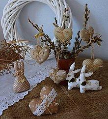 Dekorácie - Jarná dekorácia - béžová SADA - 10564239_