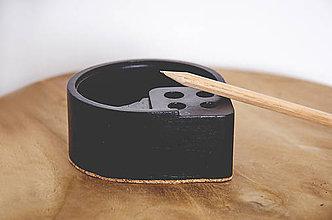 Pomôcky - Betónový stojan na ceruzky Scribo (Čierna) - 10563709_