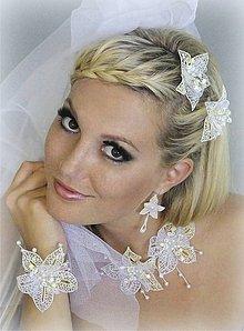 Sady šperkov - Souprava svatební květy - 10565851_
