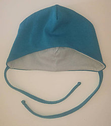 Detské čiapky - Prechodná čiapočka merino/biobavlna - 10563822_