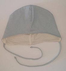 Detské čiapky - Čiapočka pre bábätko biobavlna/bambus - 10563834_