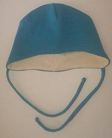 Detské čiapky - Čiapočka so zaväzovaním - 10563886_