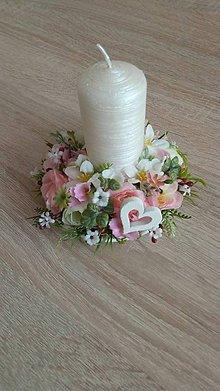 Dekorácie - Svietnik rosé - 10566225_