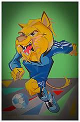 Obrazy - Mascot soccer - 10564376_