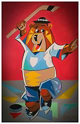 Obrazy - Mascot hockey - 10564424_