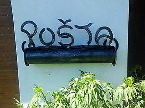 Nábytok - Poštovní schránka z podkov - 10565308_