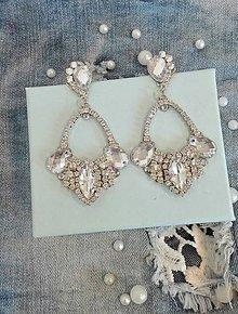 Náušnice - Kamienkové crystal náušnice - 10565436_