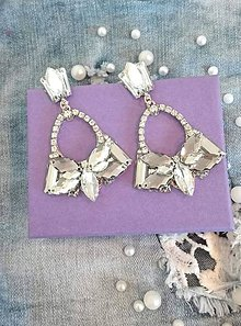 Náušnice - Svadobné crystal náušnice - 10565527_