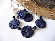 Sady šperkov - modrý set -kvitnúci(akcia) - 10565856_