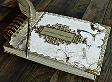 Papiernictvo - Svadobná kniha hostí,fotoalbum,kronika,kniha návštev ELEGANCIA - 10565620_