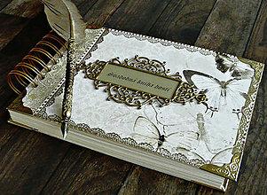 Papiernictvo - Svadobná kniha hostí,fotoalbum,kronika,kniha návštev ELEGANCIA (Svadobná kniha hostí) - 10565911_