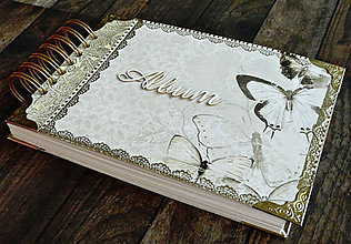 Papiernictvo - Svadobná kniha hostí,fotoalbum,kronika,kniha návštev ELEGANCIA (Album) - 10565914_