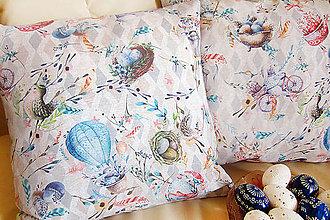 Úžitkový textil - Návliečka na vankúš veľkonočná - 10566270_