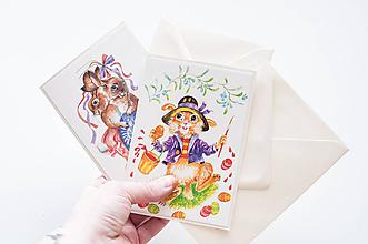 Papiernictvo - Retro set - Veľkonočné pohľadnice - 10565712_