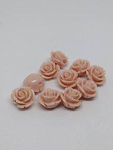 Korálky - Ružičky  (Svetlý koral) - 10565792_