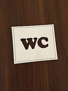 Tabuľky - Tabuľka s označením WC (natur) - 10565305_