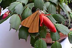 Náušnice - Náušnice - Slivkové trojuholníčky I. - 10565168_