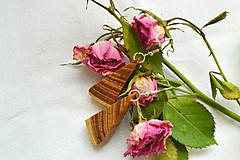 Náušnice - Náušnice - Agátové trojuholníčky - 10565231_