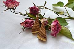 Náušnice - Náušnice - Agátové trojuholníčky - 10565232_