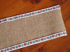 Úžitkový textil - Folklórna jutová šerpa na stôl šírka 15cm aj iné šírky - 10564119_
