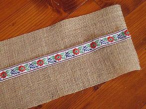 Úžitkový textil - Folklórna jutová šerpa na stôl šírka 15cm aj iné šírky - 10564185_