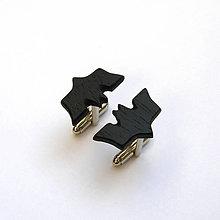Šperky - Drevené manžetové gombíky - ebenový batman - 10564313_