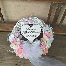 Dekorácie - svadobný veniec..s dátumom svadby - 10565982_