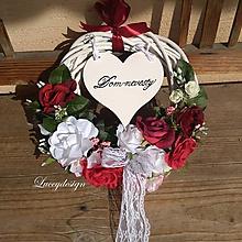 Dekorácie - svadobný veniec..burgundy - 10566067_