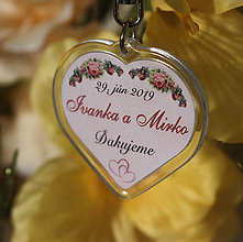 Darčeky pre svadobčanov - Svadobný prívesok / kľúčenka - 10568085_