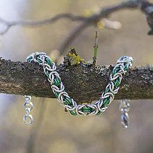 Náramky - Hádě - náramok (zelené) - 10568570_