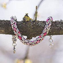 Náramky - Hádě - náramok (tři odstíny růžové) - 10568581_